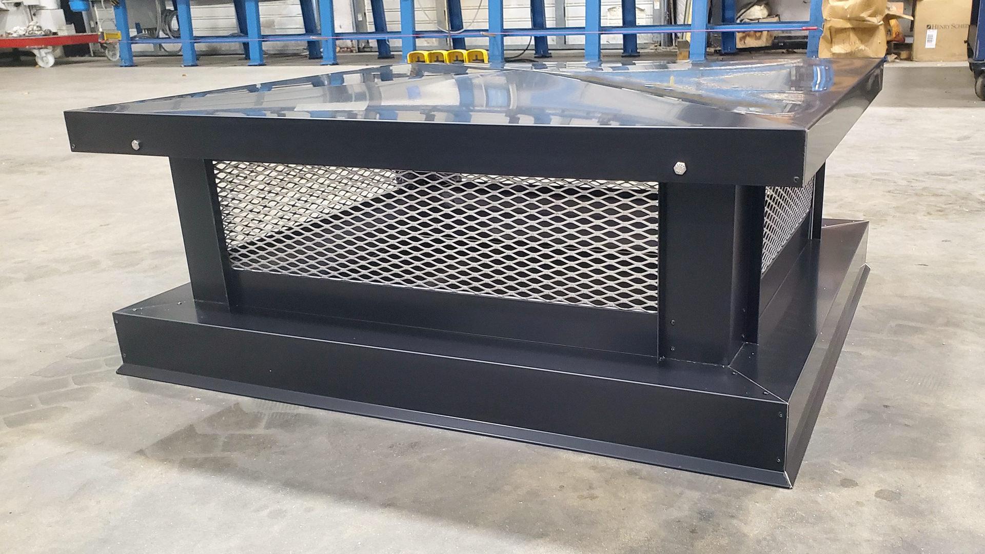 Basic multi flue kynar steel matte black chimney cap
