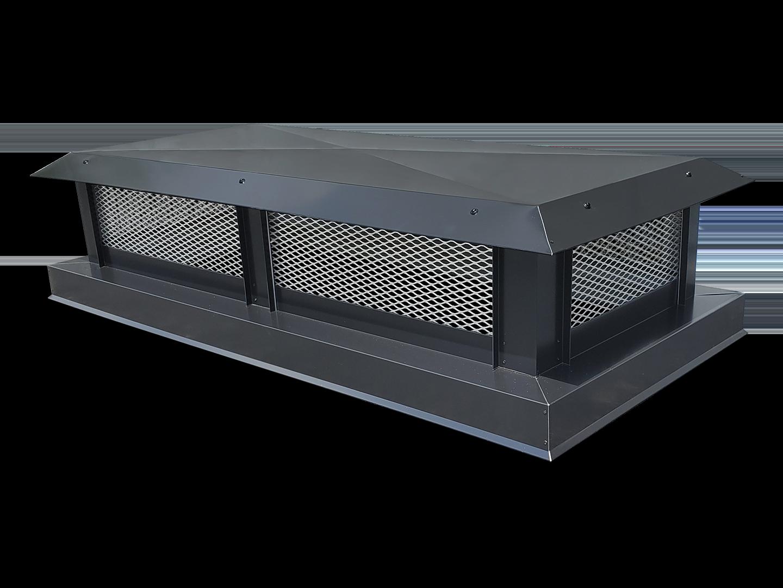 CC100 - Flat roof multi-flue aluminum chimney cap
