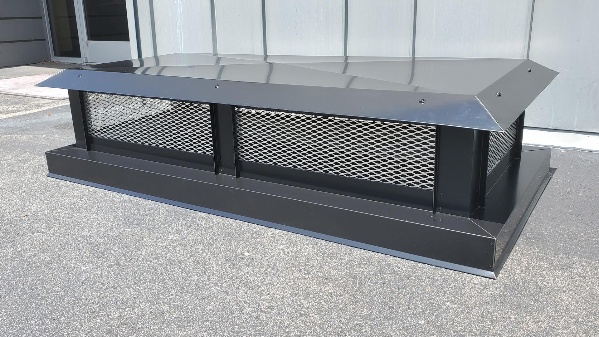 CC100 - Flat roof multi-flue black aluminum chimney cap
