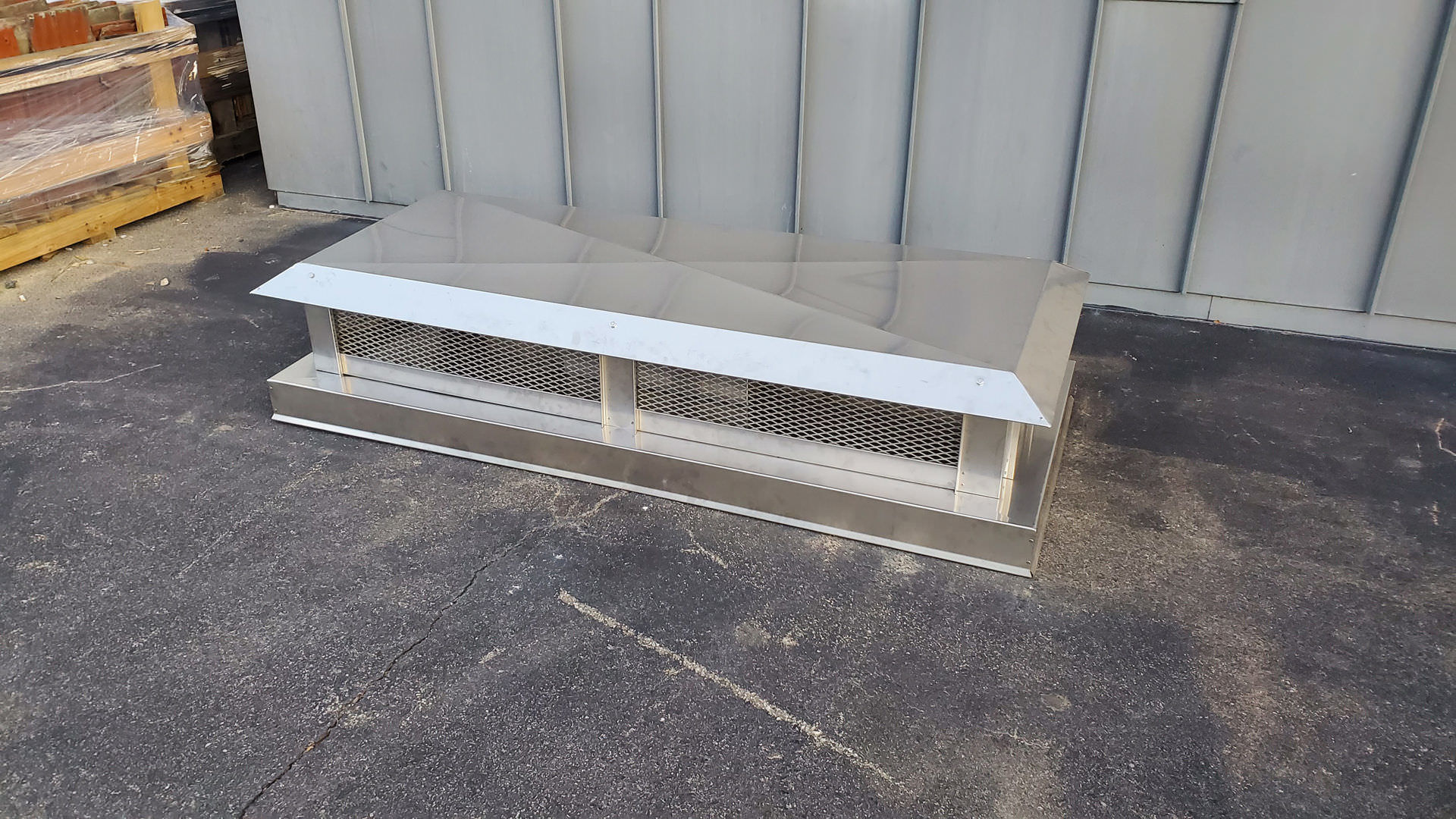 #CC100 multi flue simple stainless steel chimney cap