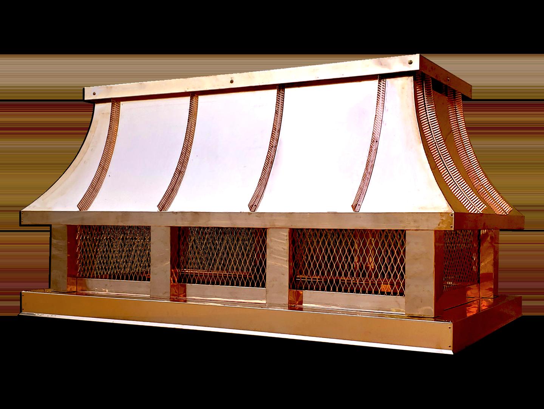 CC101 - Concave copper roof standing seam chimney cap