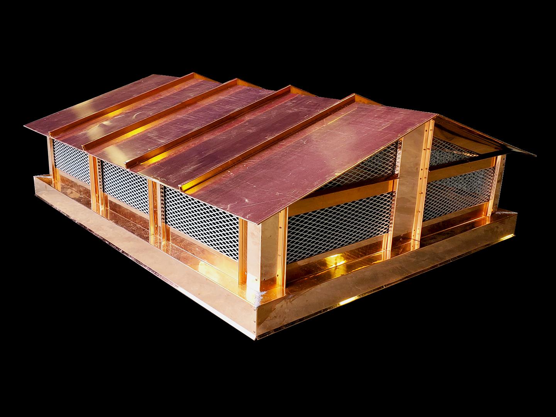 CC102 - Rake style roof copper chimney cap