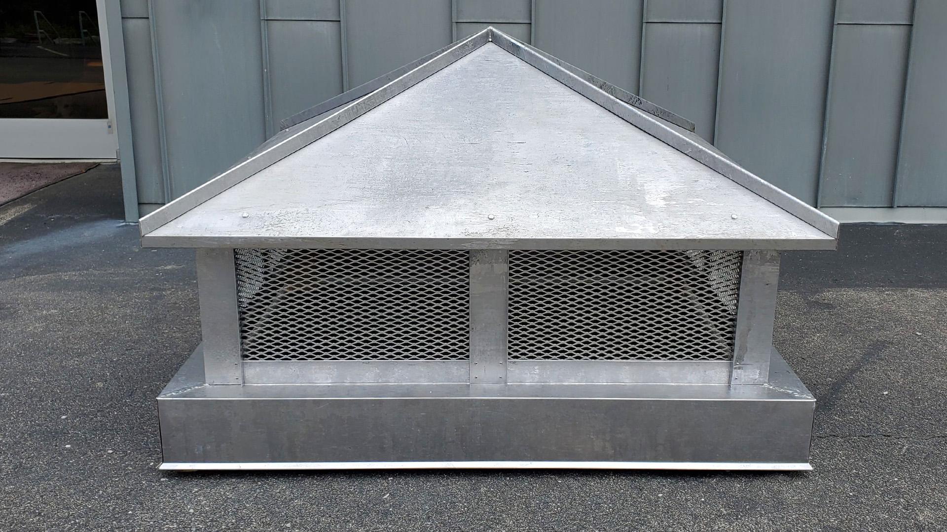 CC103 - Lead coated copper hip and ridge metal chimney cap