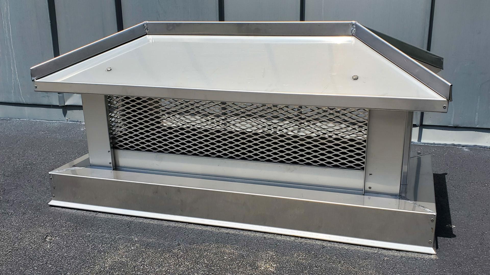 CC103 - stainless steel hip and ridge metal chimney cap