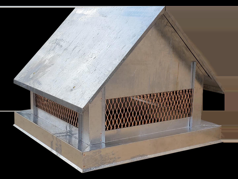 CC104 - Multi flue Gable Roof copper chimney cap