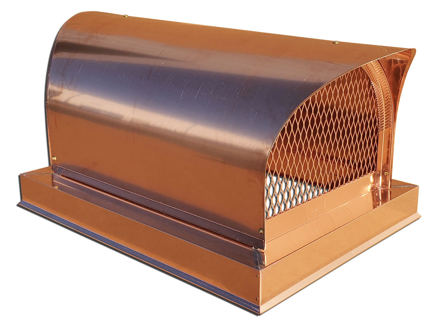 #CC105 - Covered wagon round roof style multi flue copper chimney cap