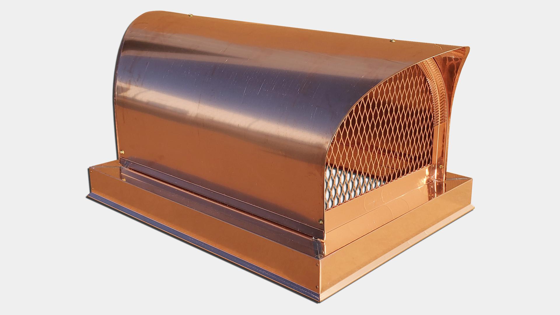 CC105 - Decorative Covered wagon round roof multi flue chimney cap copper