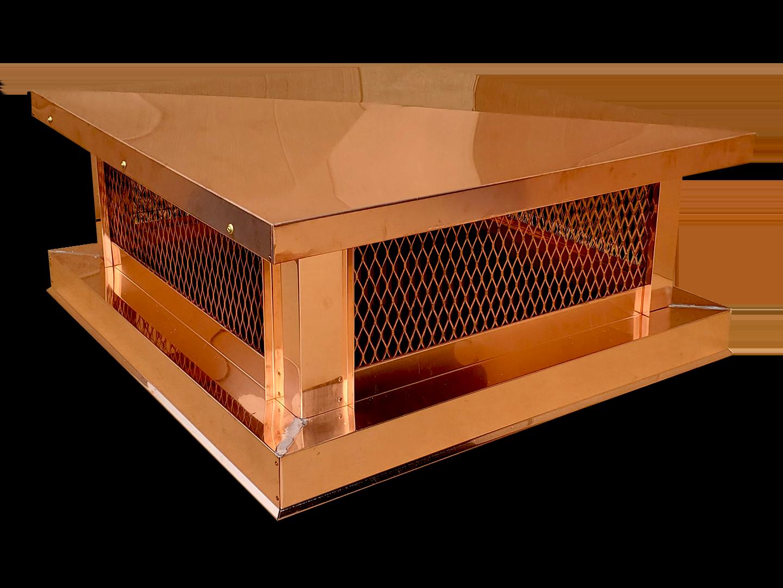 CC108 - Basic multi flue simple copper chimney cap