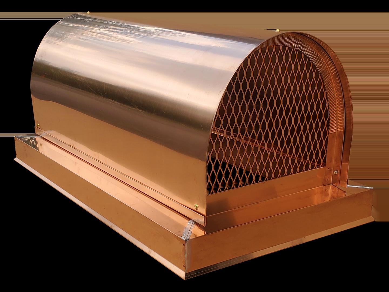 CC109 - Copper barrel roof custom chimney cap