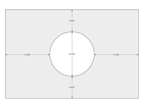 Flue location sketch example