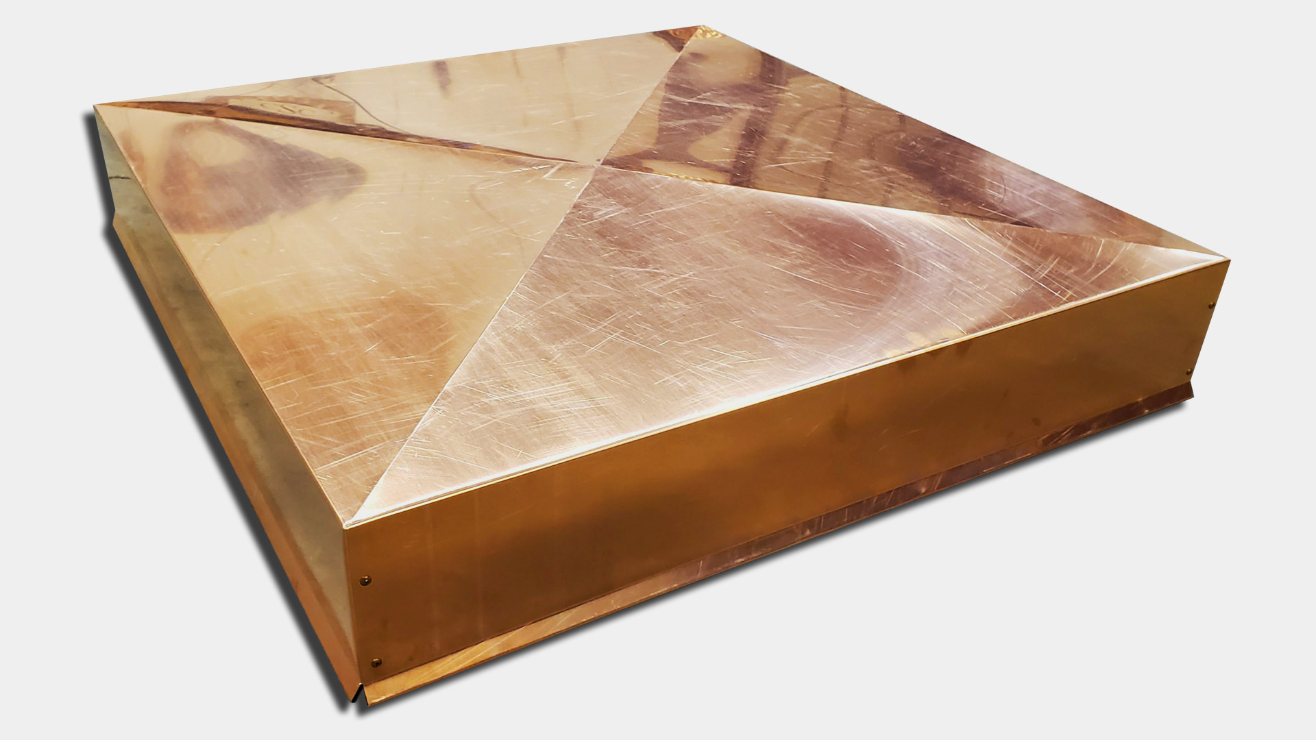 CC200 - Copper economy solid chimney chase cover with no holes