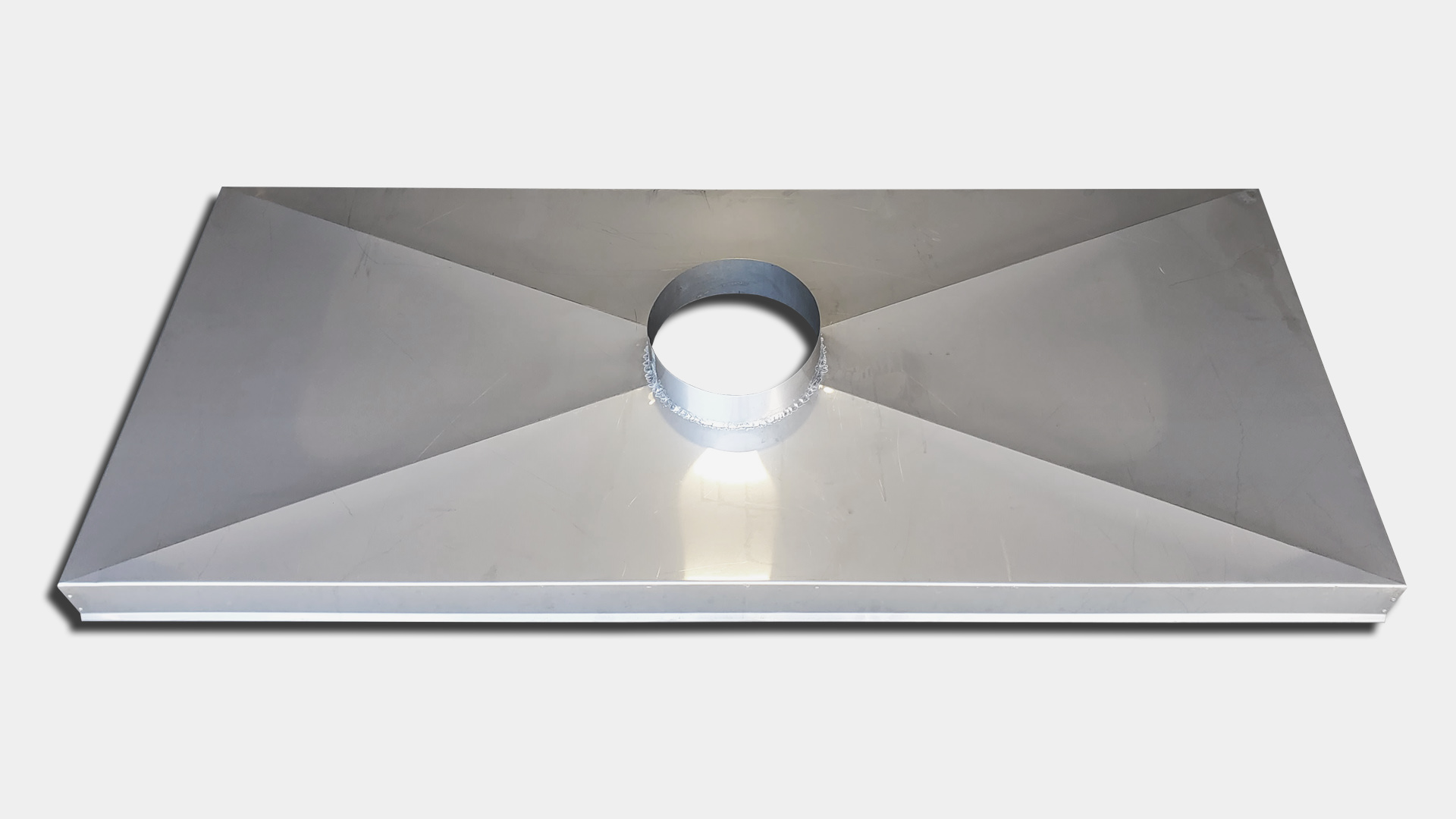 CC200 - Chimney chase cover - stainless steel - 1 flue with collar - custom