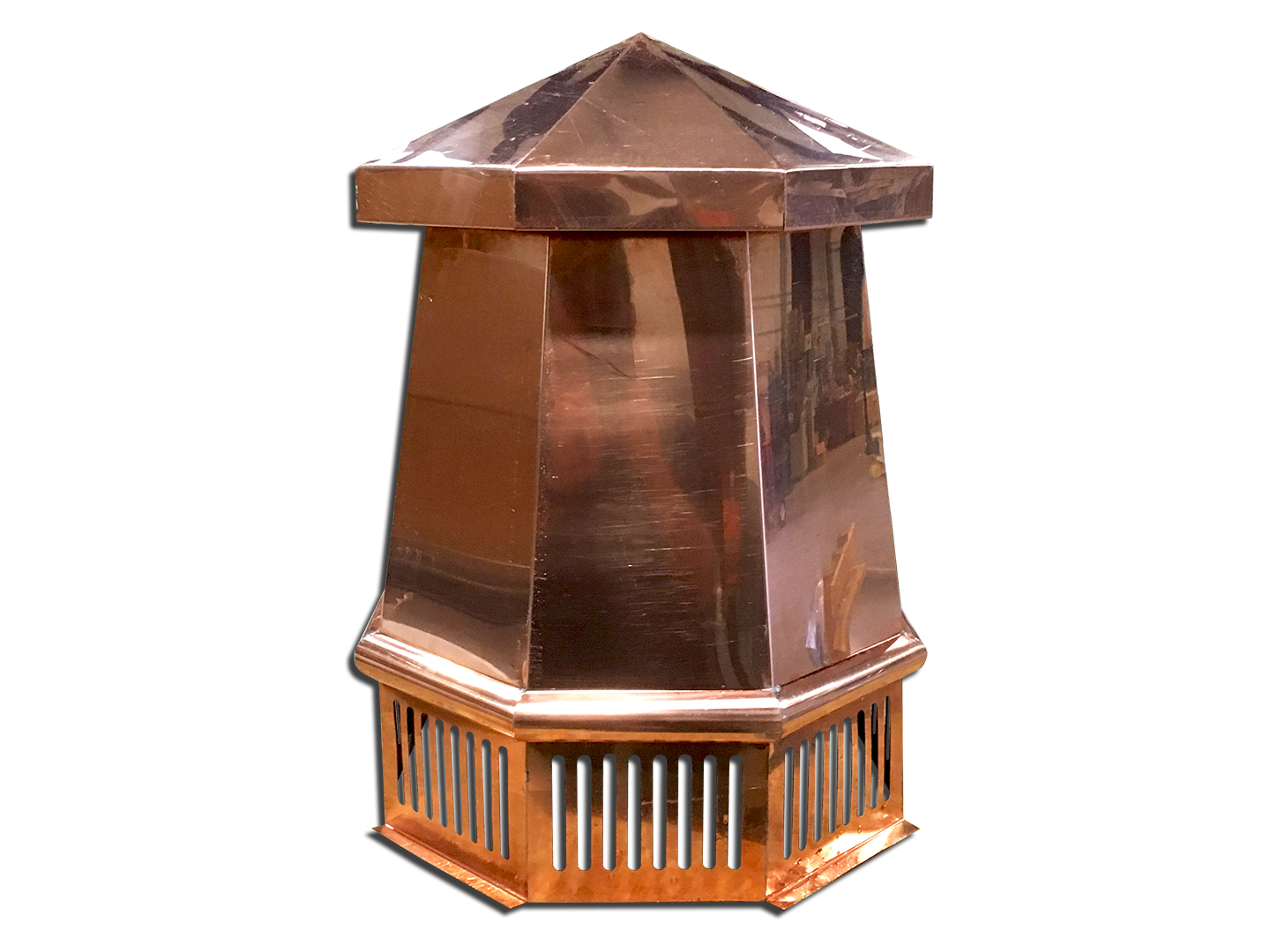 #CC301 - Octagon shaped chimney topper - copper