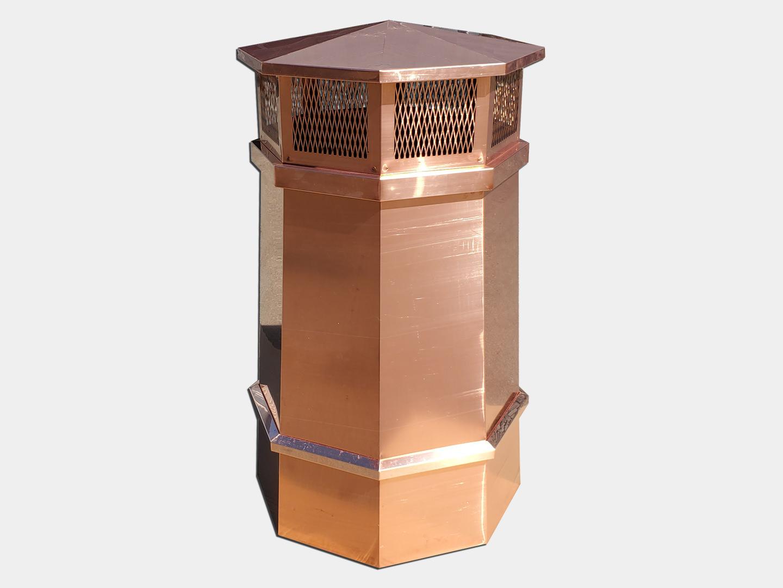 CC302 - Octagonal copper chimney pot