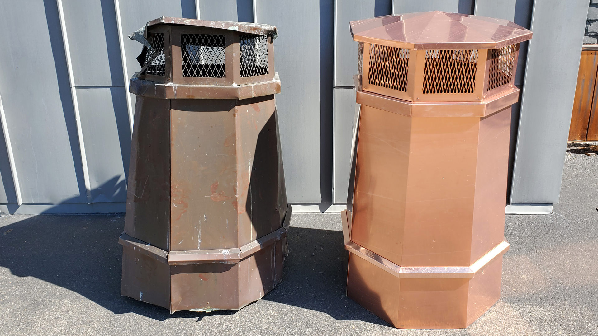 CC302 - Octagonal copper chimney pot remade project