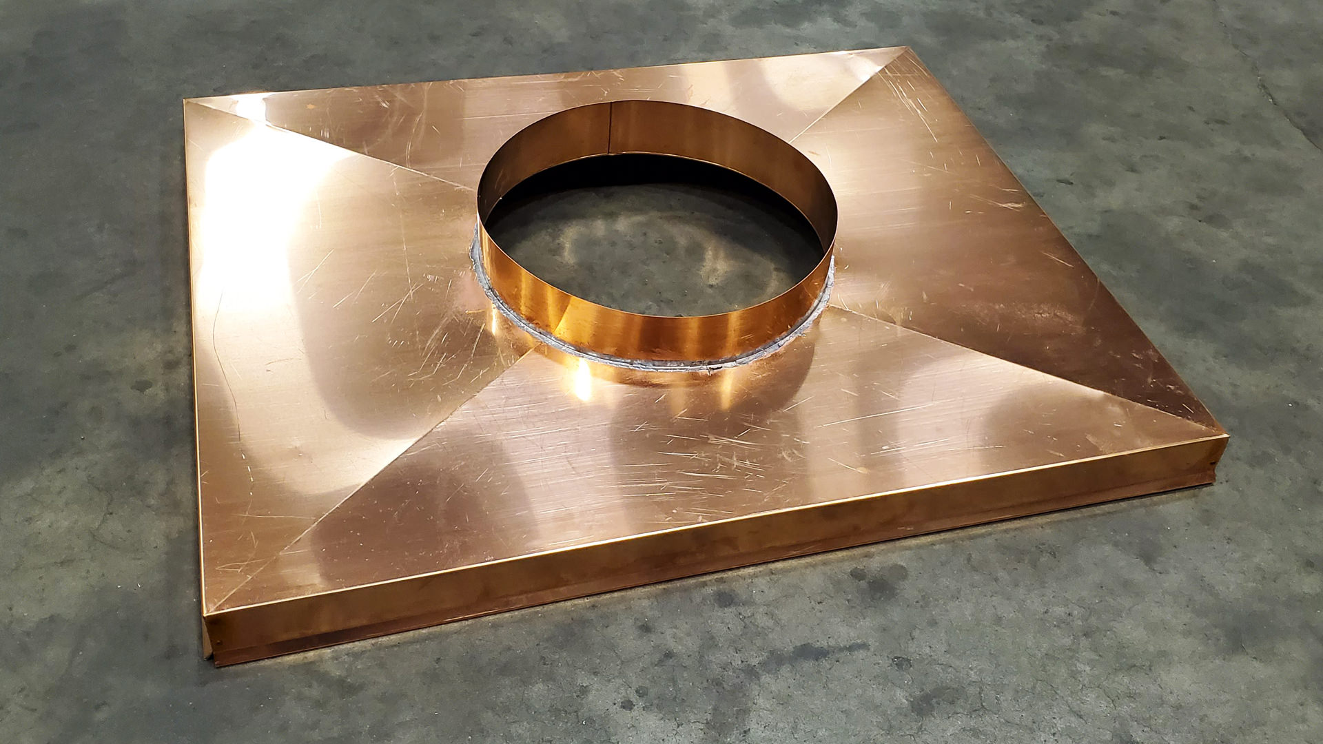 Copper chimney pad cover
