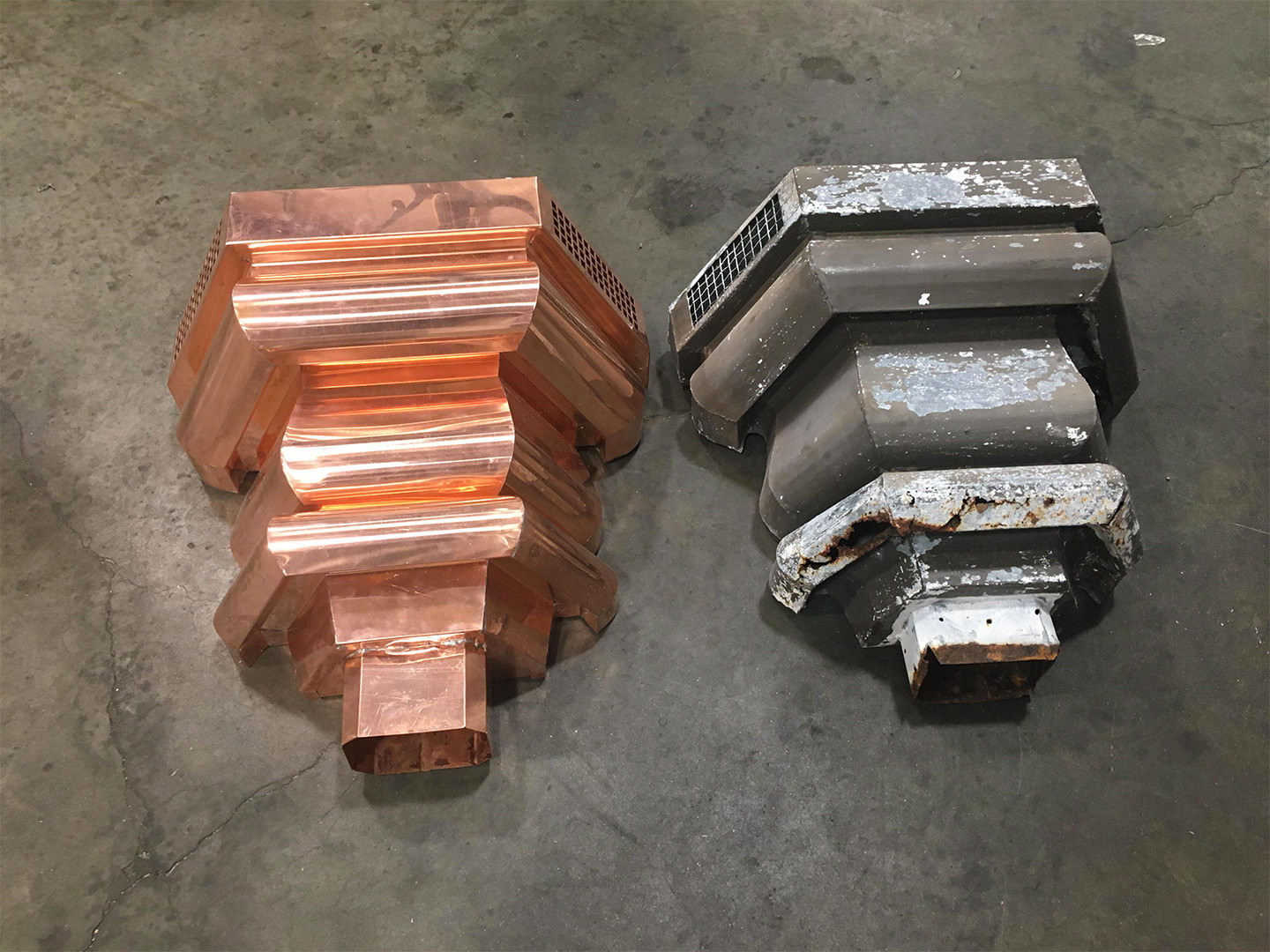 Custom remake project of copper conductor heads