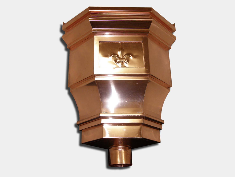 Premium: The Churchill Inside Corner Copper Conductor Head / Leader Head