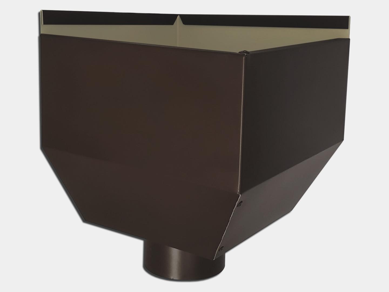 Small basic square inside corner conductor head in dark bronze aluminum
