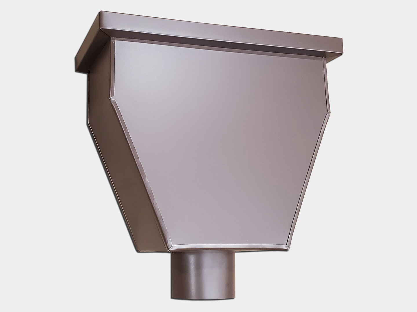 The commercial gutter leader head - royal brown aluminum