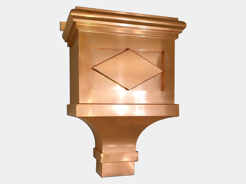 The diamond copper leader head