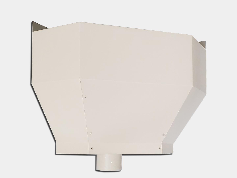 The basic small inside corner conductor head in white aluminum