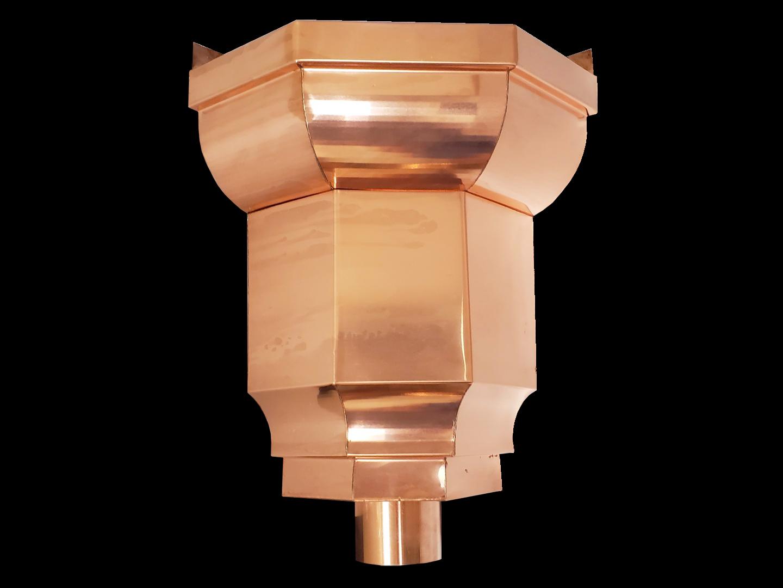 Traditional Regal inside corner conductor head copper