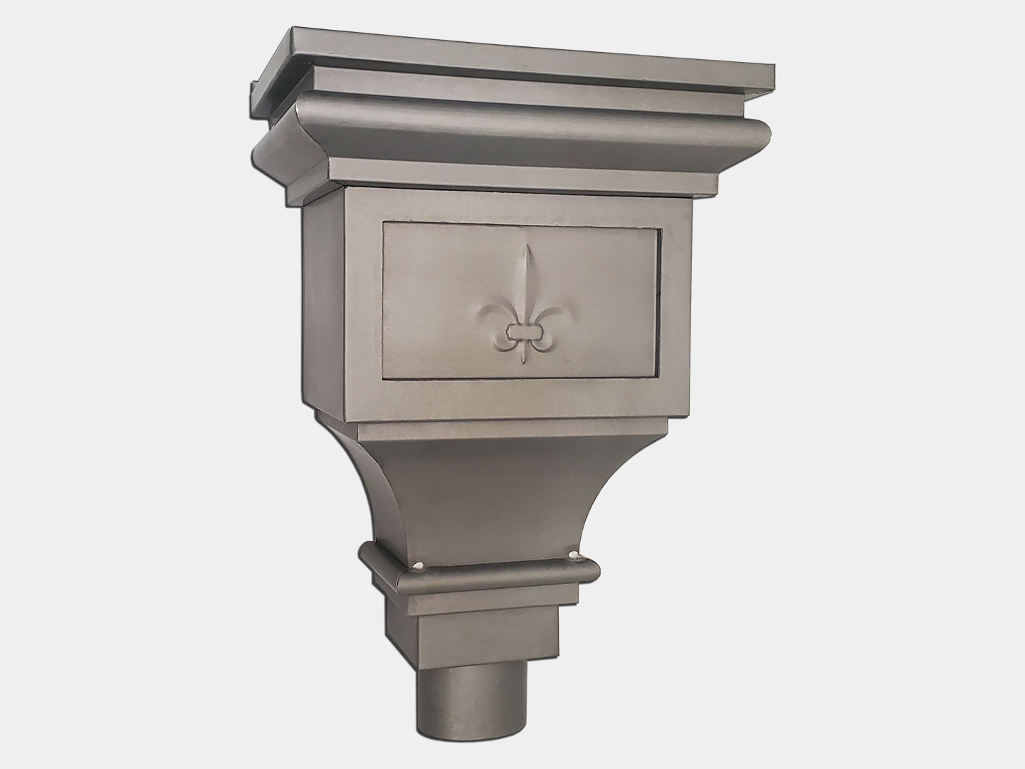 Zinc Churchill Conductor Head for 4 inch downspout