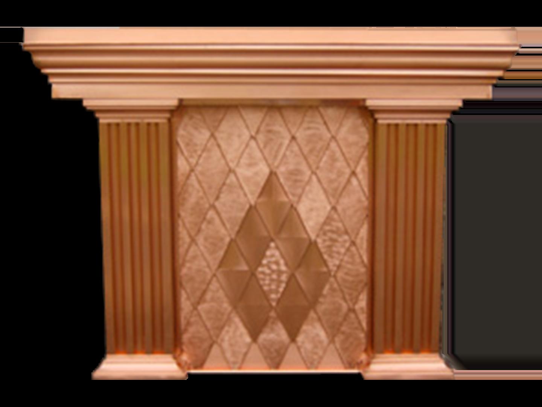 Custom copper cornice with columns