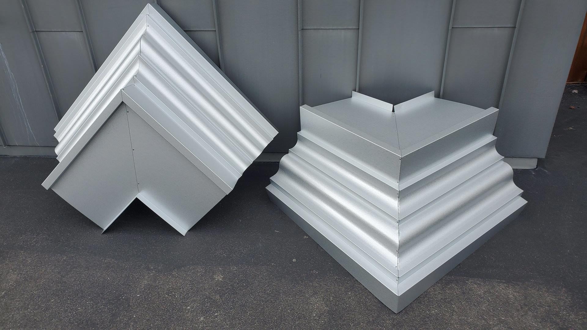 Custom galvalume cornice edge metal