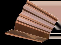 Simple copper cornice