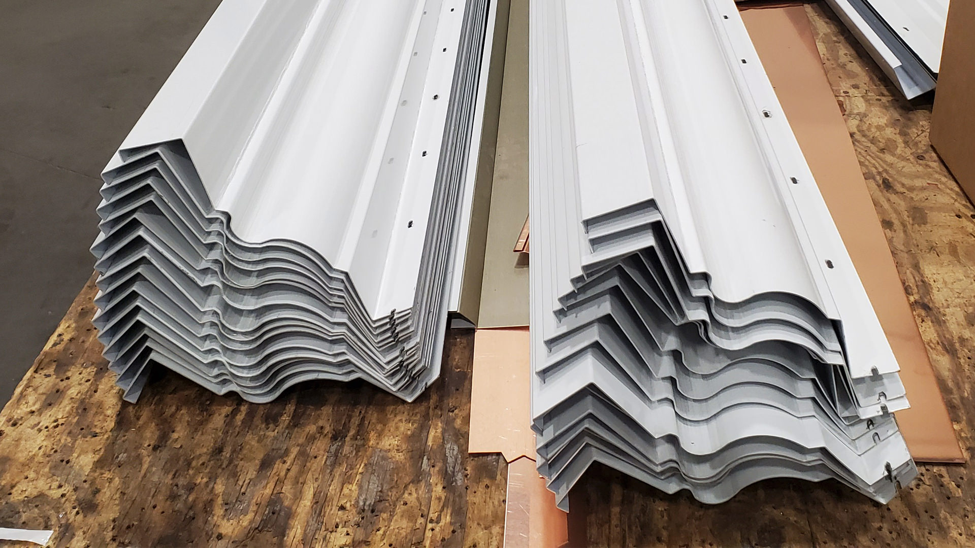 White Kynar aluminum cornice