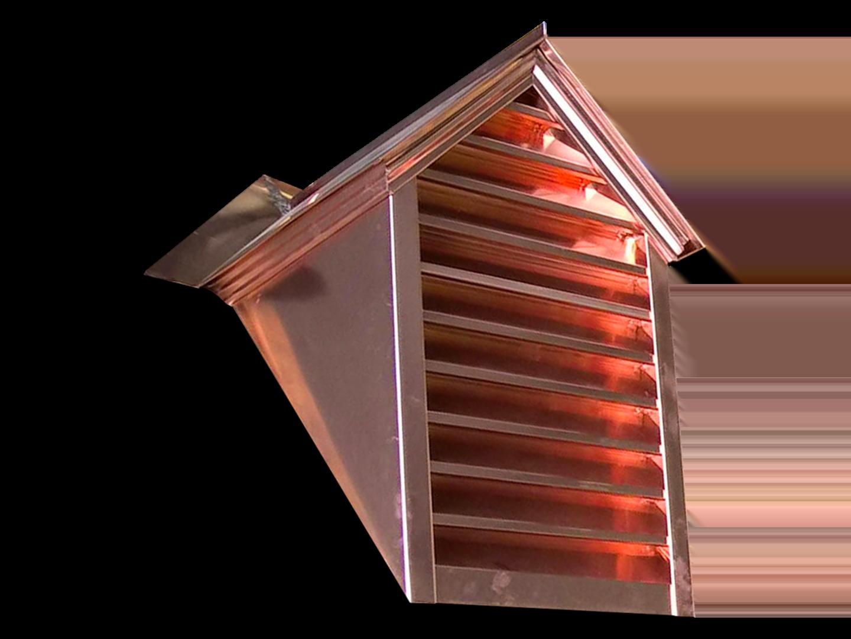 Copper gable dormer custom made to order
