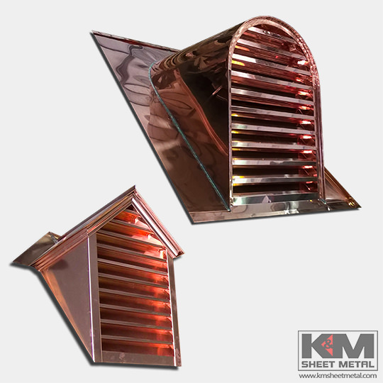 Copper Dormers Amp Louvers Custom Made K Amp M Sheet Metal