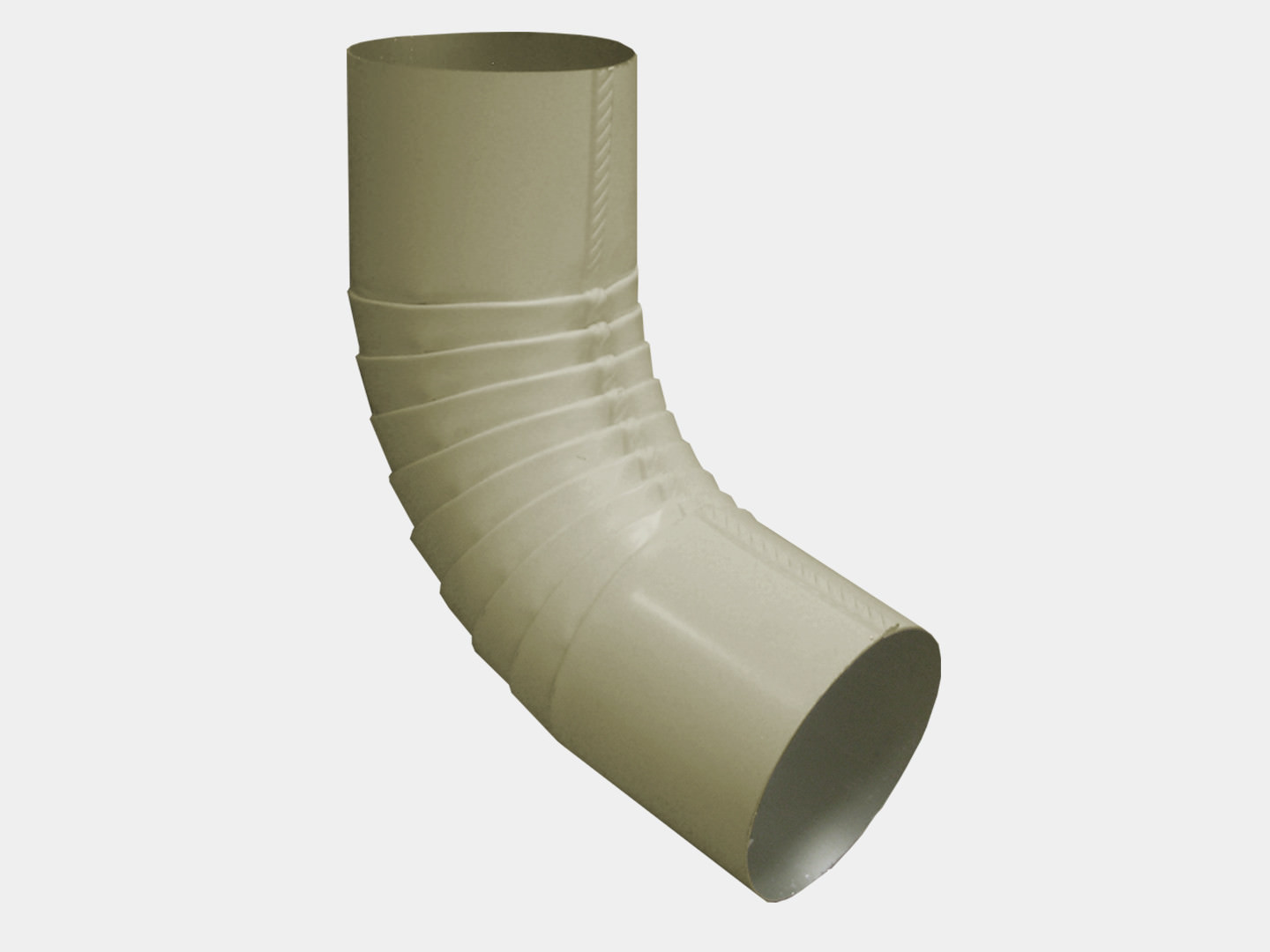 Plain round almond steel elbow for downspout