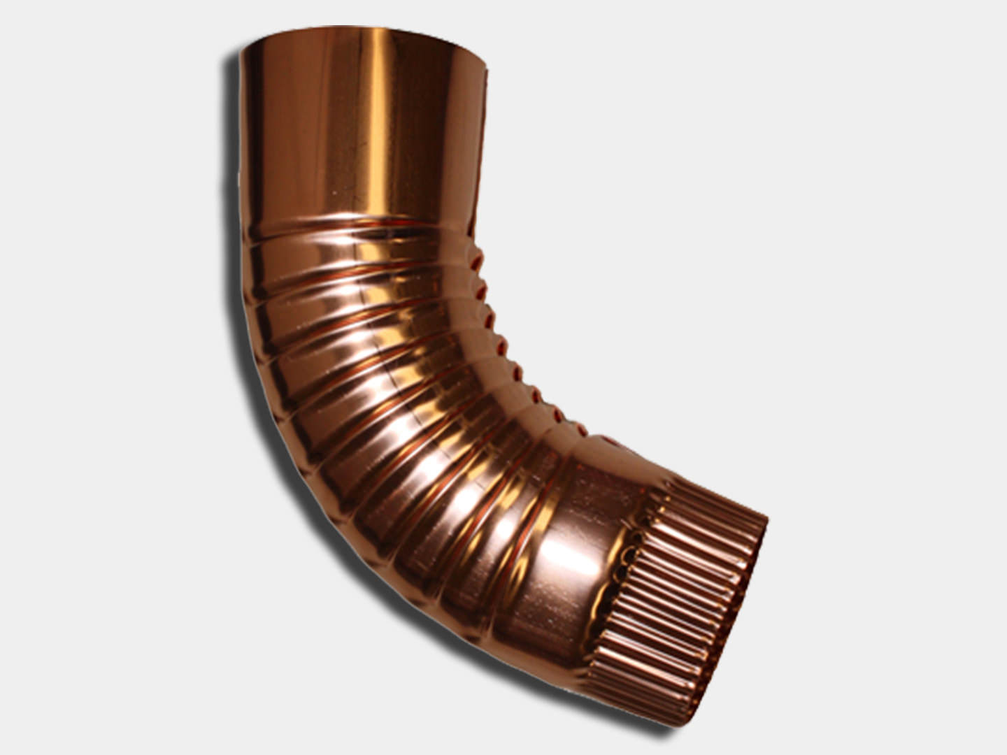 Plain round copper elbow for downspout