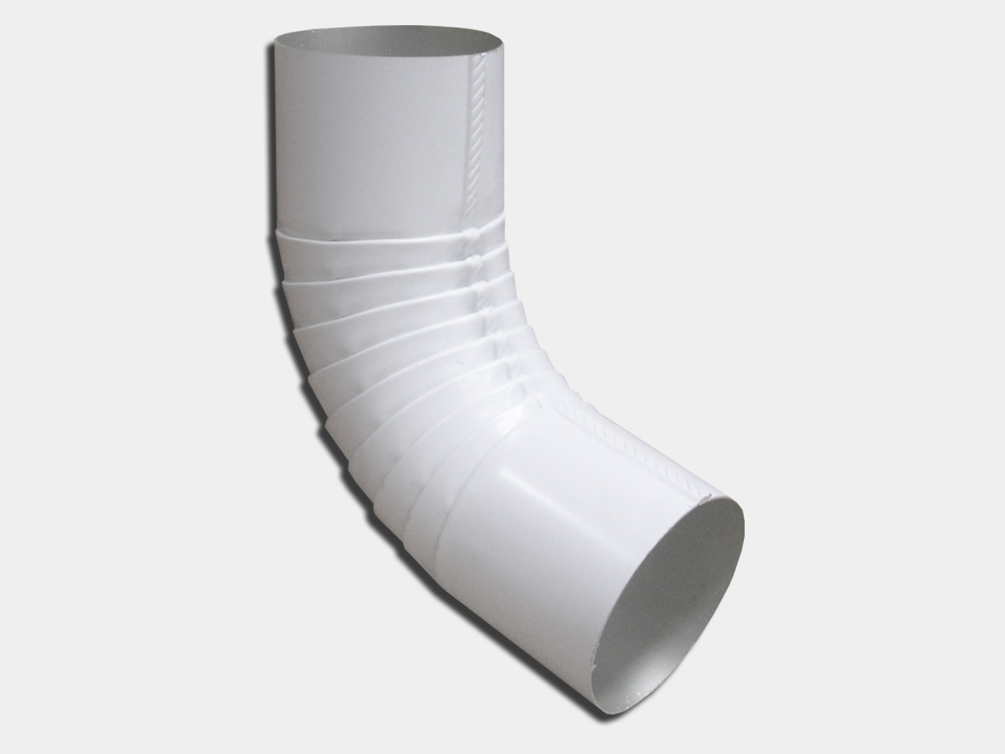 Plain round white aluminum elbow for downspout