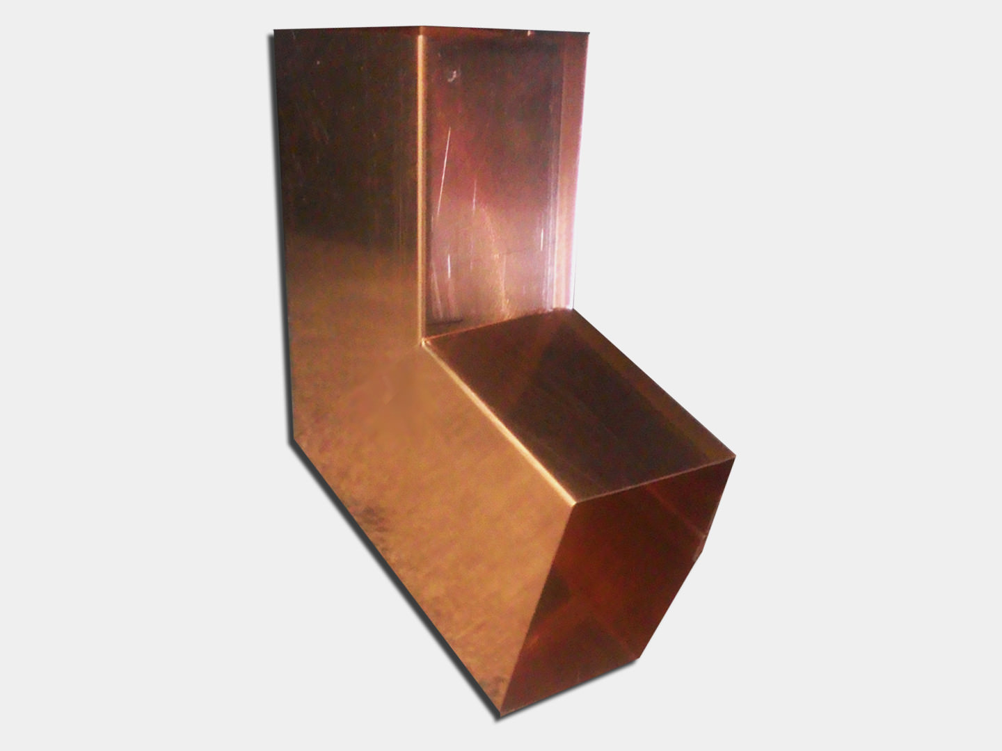 Plain square b elbow for copper downspout