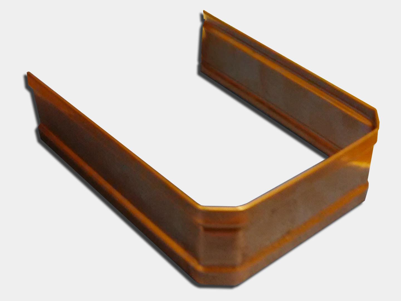 Square corrugated copper downspout strap