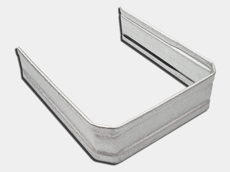 Square corrugated downspout strap - galvalume plus