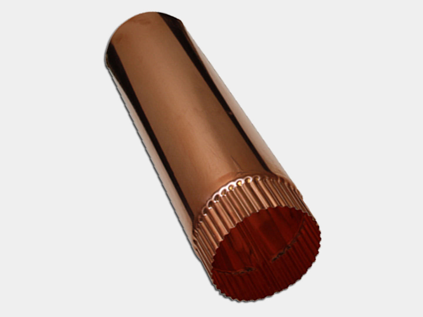 Plain Round Smooth Copper Downspout
