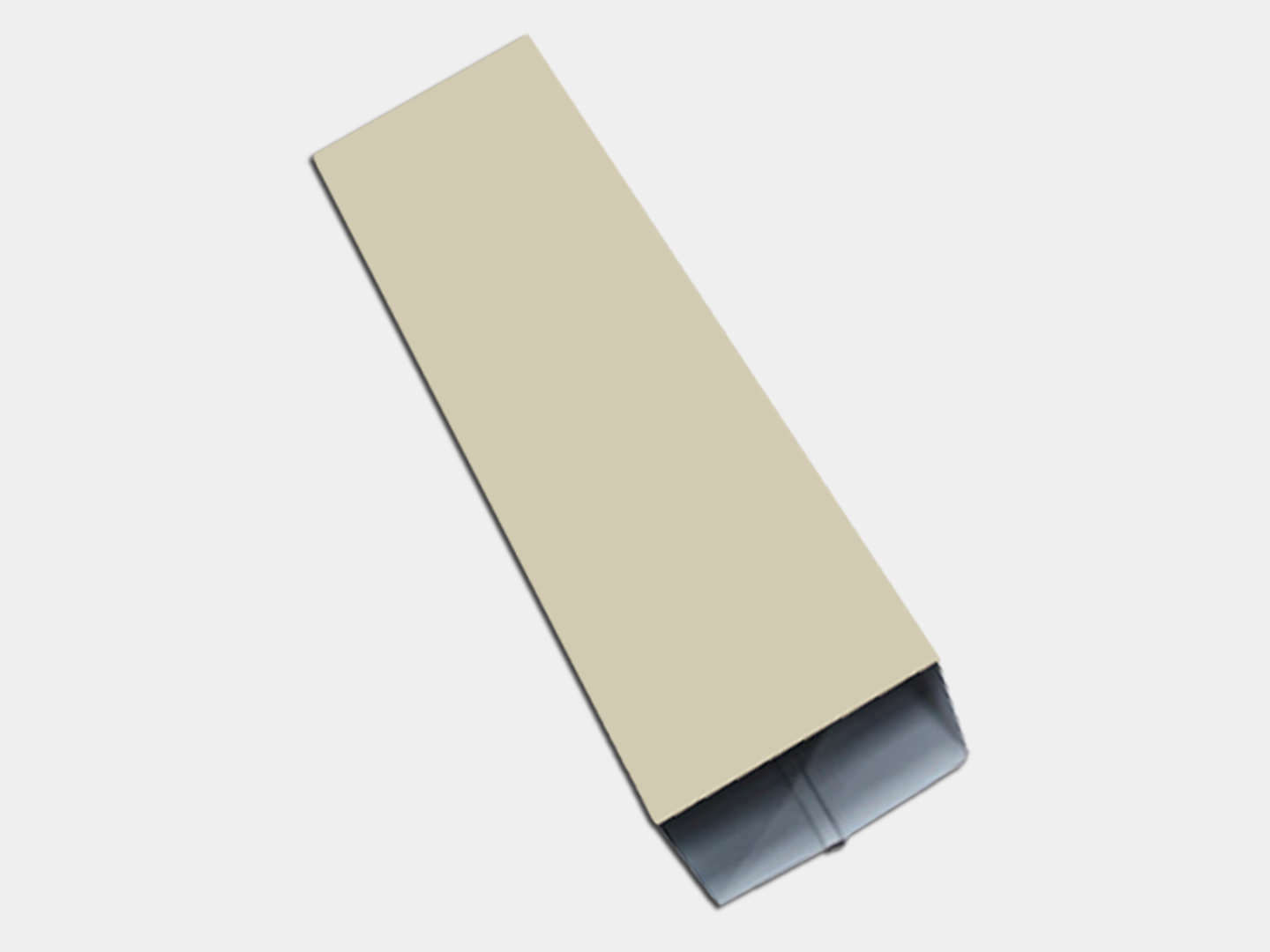 Plain Square Smooth Almond Aluminum Downspout