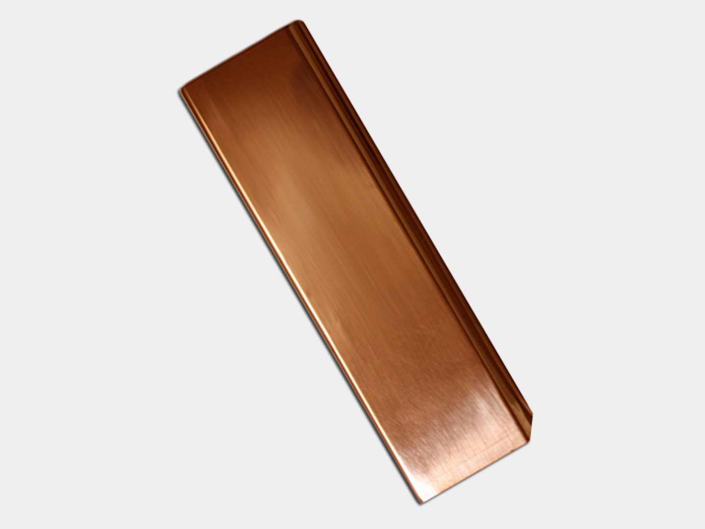 Plain Square Smooth Copper Downspout