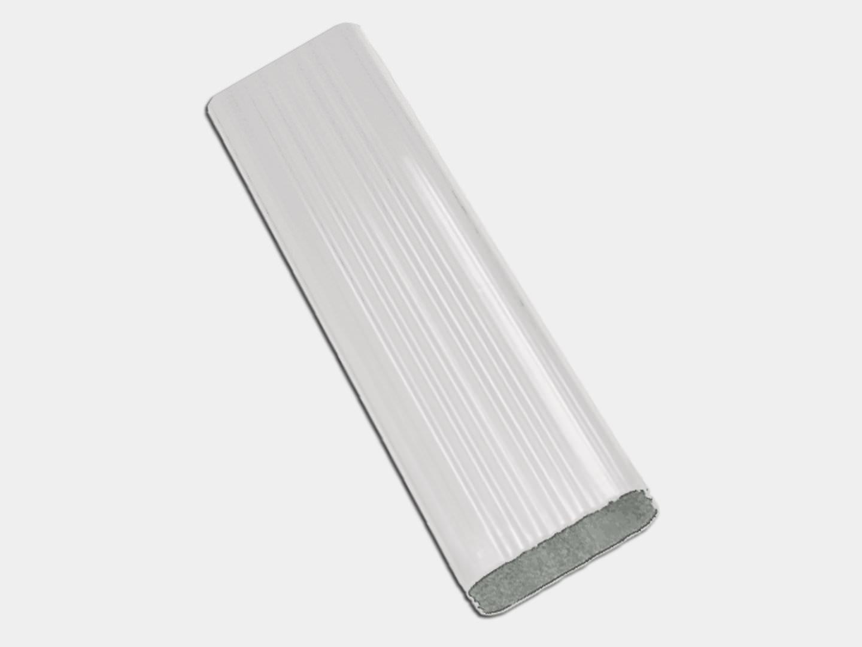 Square Corrugated White Aluminum Downspout