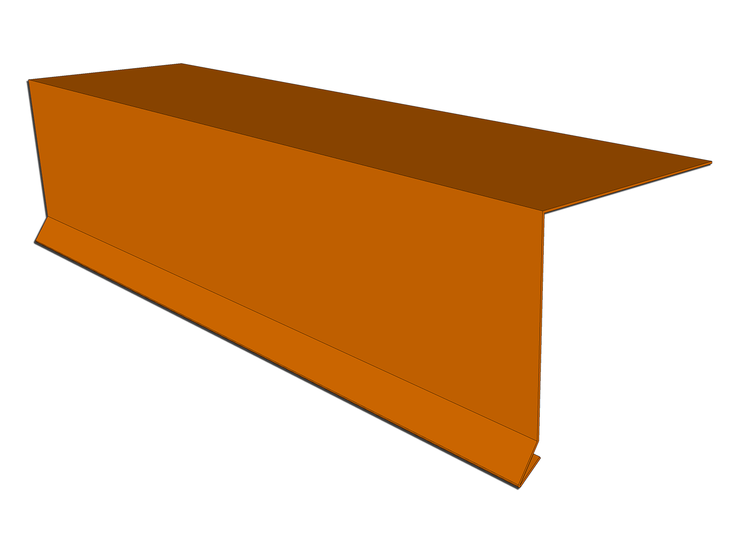 Copper drip edge roof flashing metal