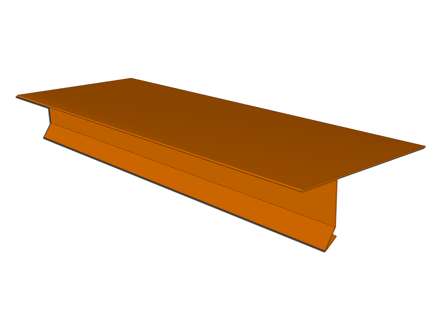 Copper T-style locking drip edge for roof