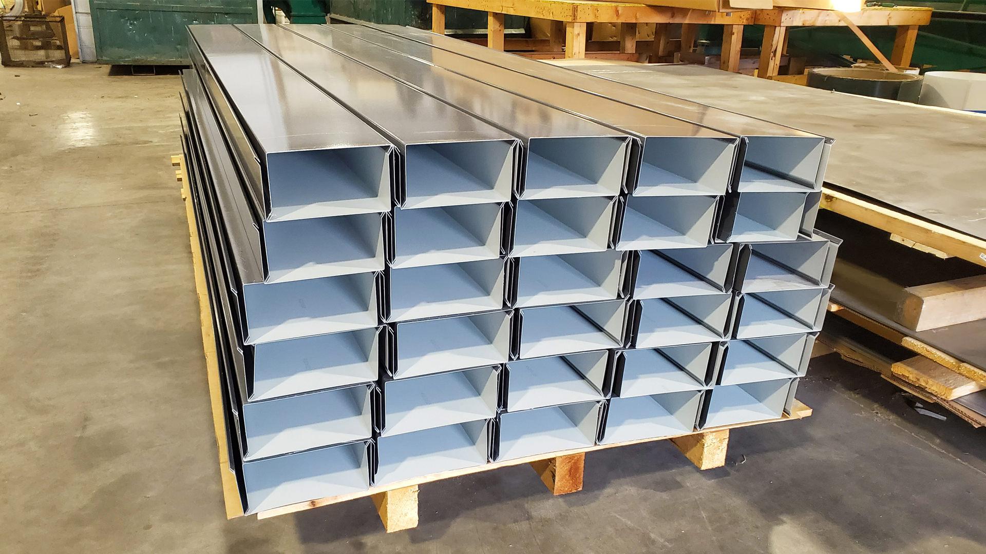 Custom dark bronze aluminum parapet wall cap