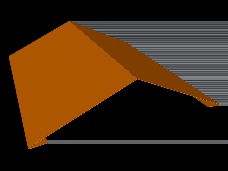 Standard roof ridge cap