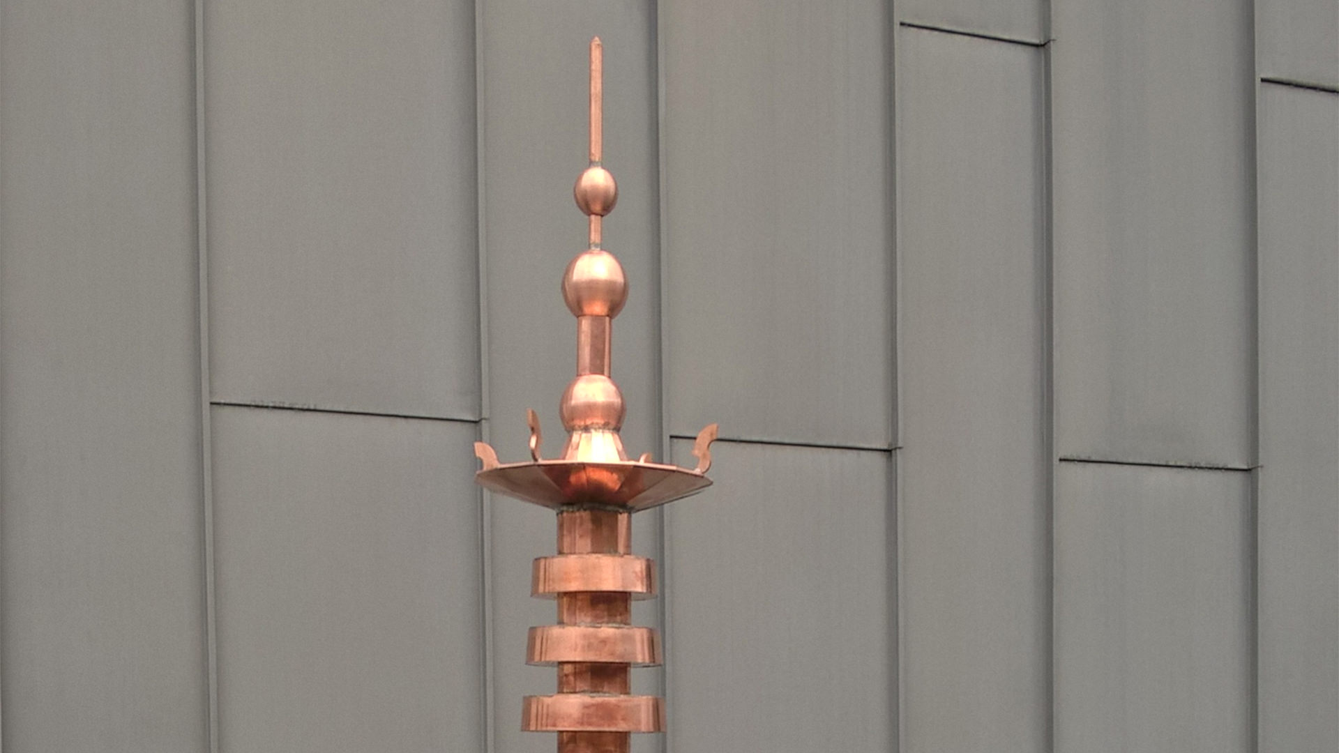 The waterfall finial - copper