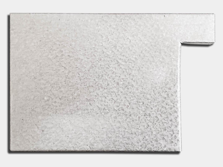Commercial galvalume box gutter left end cap